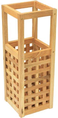Maribelle - Kleiner Schirmständer/Stockständer aus Holz - Quadratisch