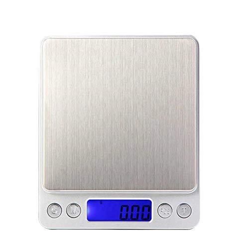 1g hohe Genauigkeit Portable Waage-Mini elektronische Balance Digital Pocket Küche Schmuck Waagen Wiegemaschine, Silber ()