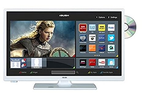 Bush LED24265DVDCNTDW 24 Inch Smart HD Ready LED TV/DVD Combo