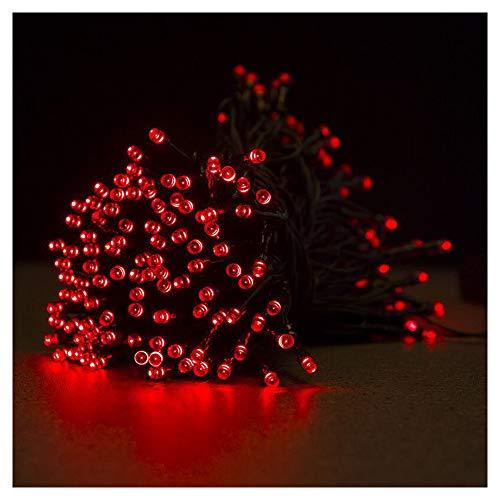 TIM-LI Draussen Lichterketten, Solar Lichterketten 100 LED 12M, 8 Modi wasserdichte Outdoor-Lichterkette, Für Garden Patio Gate Yard Party Hochzeit Indoor,red