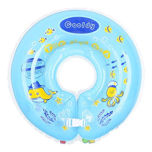 WEY&FLY Baby Hals Schwimmring, Baby Schwimmhilfe Baby Schwimmen Ring, Kleinkinder Schwimmreifen Schwimmbad Baby Float Baby Schwimmtrainer Aufblasbarer Kinder Schwimmring für Baby von 6 bis 30 Monaten