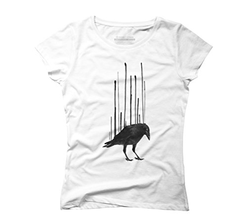 Raven Drip I Women's Graphic T-Shirt - Design By Humans White