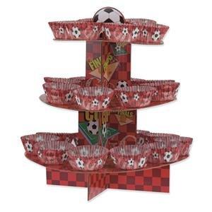 Rot Fußball Cup Cake Kit-Ständer, Plektrum Plektron Picks & Fällen