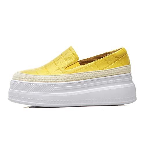 dd0ce5f1426 YAN Women es Platform Shoes Spring Fall Leder Wedge Schuhe Loafers &  Slip-Ons Low