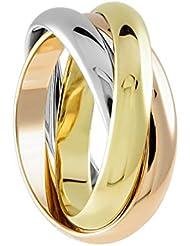 Bella Donna Damen- Ring 585 Gelbgold/Rosègold/Weißgold