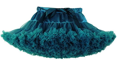 DATO Damen Tutu Erwachsene Tüllrock Petticoat Ballettrock Ballettröckchen Rock Prinzessin Tütü Röcke, Pfau Grün, XL (Princess Tutu Kostüm)