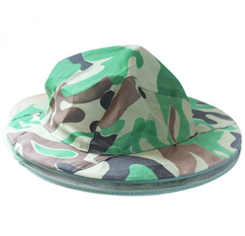 Katech Camouflage Beekeeping Hat Beekeeper Anti-mosquito Face Mask Outdoor Fishing and Camping Mosquito Netting Hat Protective Equipment 2