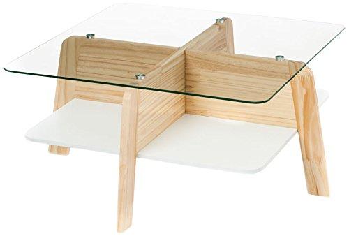 WINK DESIGN -Visby - Tables Basses - Bois - Finition rouvre et Blanc
