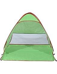 Tienda de Campaña Instantánea para Playa Picnic Camping y Refugio con Protección Solar UV Despliegue Automático Verde