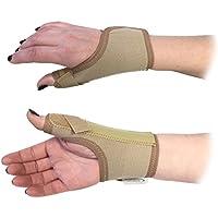Bodymedics - Tutore elastico professionale per polso, misura L, mano destra, pollice a spiga