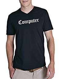 Computer V-Neck Black Certified Freak