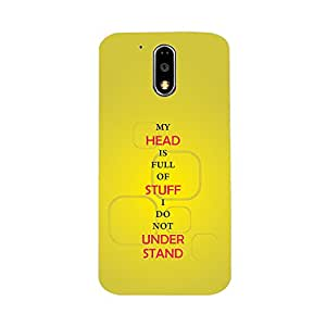 Skintice Designer Back Cover with direct 3D sublimation printing for Moto G4 Plus