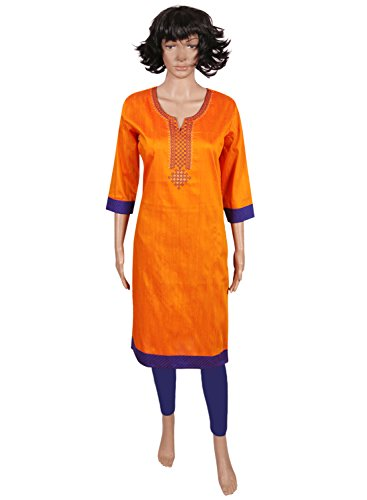 Traditional Ethnic Chanderi Silk | Cotton Slub Fully Stitched Kurti | Kurta...