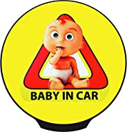 Carmoji Carmoji-Babyincar Car Motion Sensor Led Light Signage - Baby in Car Decal