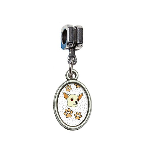 Chihuahua of Awesomeness Italian European Euro Style Bracelet Charm Bead - Fits Pandora, Biagi, Troll, Chamilla, Others by Graphics and More