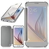 moex Samsung Galaxy S6 | Hülle Transparent TPU Void Cover Dünne Schutzhülle Silber Handyhülle für Samsung Galaxy S6 Case Ultra-Slim Handy-Tasche mit Sicht-Fenster