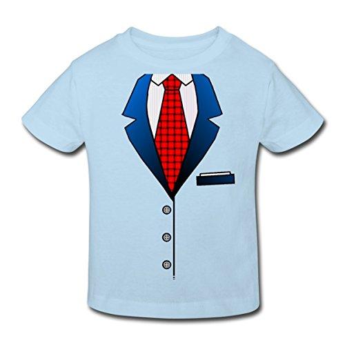 stüm Kinder Bio-T-Shirt, 152 (11-12 Jahre), Hellblau (Bio Anzug Kostüm)