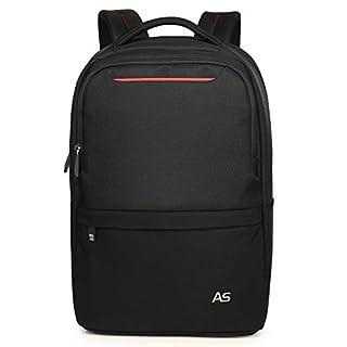Aspen AS-B67 Laptop Rucksack Schulrucksack Reiserucksack Ergonomisch Computer Backpack Wasserdicht für Notebook bis zu 15.6 Zoll Damen Herren 25-30 L(Schwarz)