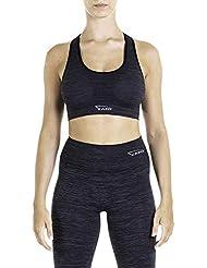 XAED, reggiseno sportivo da donna, colore nero, taglia S