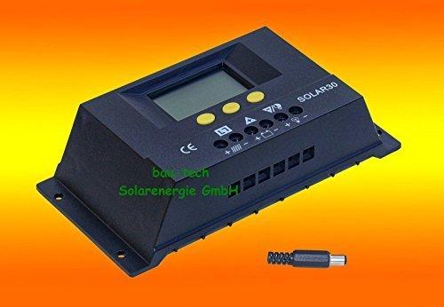 30A LCD Solar Laderegler Photovoltaik 12V / 24V für Solarpanel von bau-tech Solarenergie