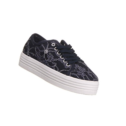 Damen Schuhe Freizeitschuhe Halbschuhe Sneaker Blau