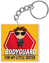 Yaya Cafe Birthday Gifts for Brother, Bodyguard for Little Sister Keychain Keyring