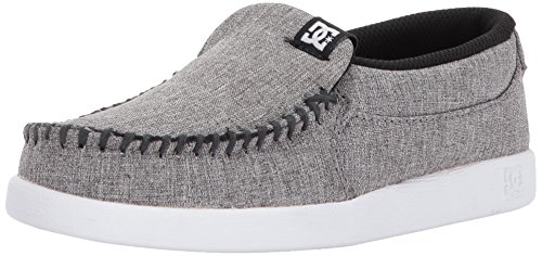 DC - Dc - Jungen Schurken Tx Se Slip On Schuh, 32, Heather Armor (Kinder-tag Dc Shoes)