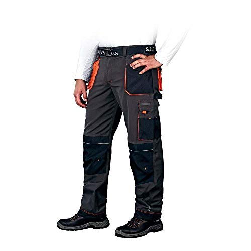 Leber&Hollman LH-FMN-T_SBP50 Formen Schutzhose, Stahlblau-Schwarz-Orange, 50 Größe