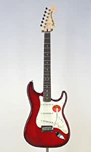 Guitare SQUIER STANDARD STRATOCASTER FMT CRIMSON RED TRANSPARENT