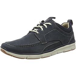 Clarks Orson Bay, Zapatillas Para Hombre, Azul (Navy Nubuck), 43 EU