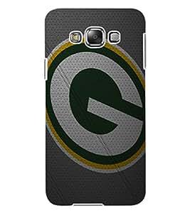 """ColourCraft Alphabet """"G"""" Design Back Case Cover for SAMSUNG GALAXY E7"""
