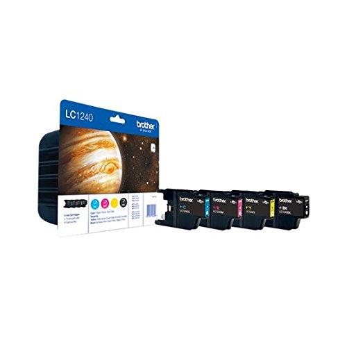Brother LC-1240VALBP Pack de 4 Cartouches d'Encre d'Origine pour MFC-J6510DW/J6710DW/J6910DW