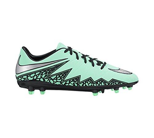 Nike  Hypervenom Phelon II FG, Chaussures de Football homme Verde / Plateado / Naranja (Grn Glw/Mtllc Slvr-Hypr Orng-B)