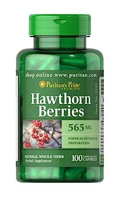Hawthorn Berries 565 Mg X100 Caps Puritans Pride Fast Dispatch