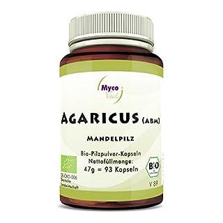 Agaricus Bio-Vitalpilz | 93 Pilz-Kapseln je 500mg Pulver | Agaricus Blazei Murril (ABM) | Bio-Pilzpulver ohne Zusatzstoffe