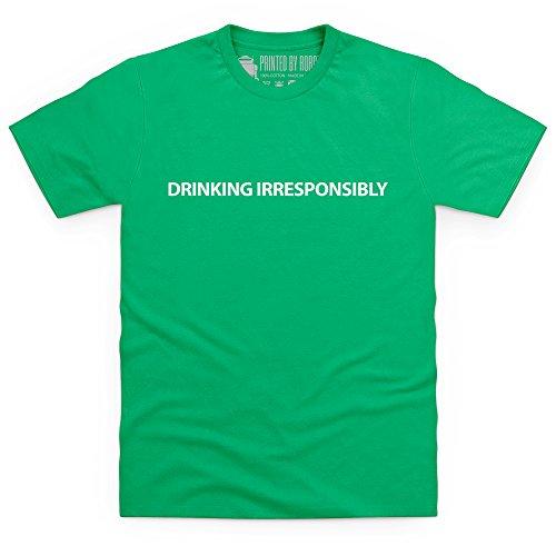 Drinking Irresponsibly T-Shirt, Herren Keltisch-Grn