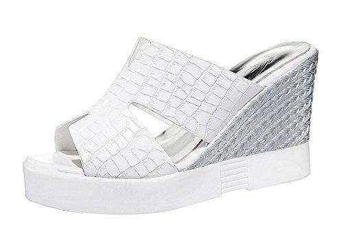 fq-real-balck-friday-womens-stylish-crocodile-style-platform-heel-slippers-35-ukwhite