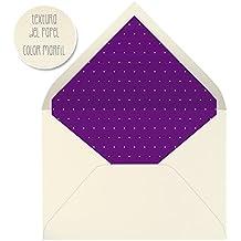 sobres forrados invitaciones de boda LISO PUNTO BLANCO 22,5x16,5 cm. (morado)