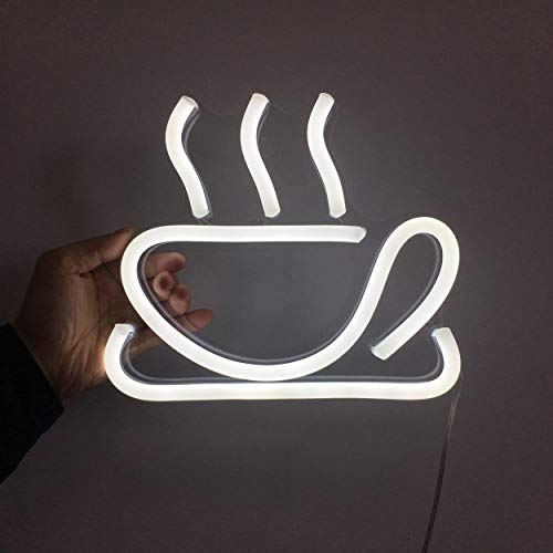 Letrero de neón abierto LED para ferias de negocios, taza de café, luz LED neón, señal de apertura para tiendas, hoteles, tiendas de licores, sin uso de neón tóxico