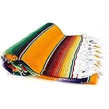 Tradizionale messicano Serape Camping Pik Nik soffitto Pilates Yoga Tappeto coperta copriletto 220cm x 150cm von Peyote