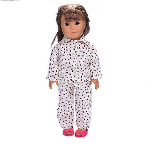 Ouneed american girl kleidung , Pyjamas Nachthemd Kleidung für 18 Zoll Our Generation American Girl Doll (I)