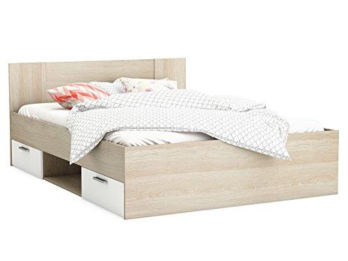 """Bett Kompaktbett Bettrahmen Doppelbett Bettgestell Schlafzimmermöbel """"Dallas I"""""""