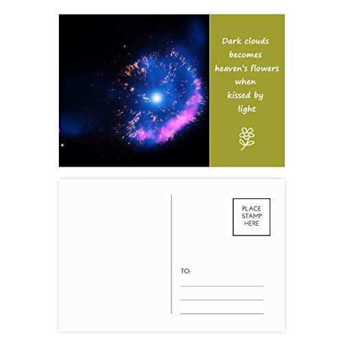 Bright Mystery Nebula Universe Poesie Postkarten-Set, mit englischsprachiger Aufschrift, 20 Stück