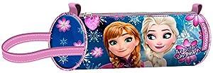 Disney Frozen- Estuche portatodo Cilindro, Color Rosa, 22 cm (Karactermanía 93478)