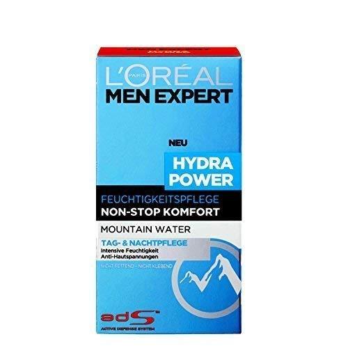 L'Oréal Men Expert Hydra Power Feuchtigkeitspflege, Tag- und Nachtpflege für Männer, 3er Pack (3...