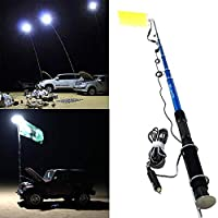 800W Multifunction Outdoor LED Fishing Rod Light 5M Camping Lantern Lamp with IR Remote 3 Modes