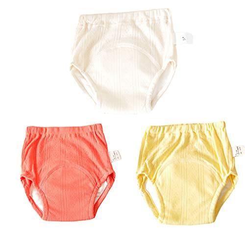 Zhongke Baby Potty Training Pants Sous-vêtements Formation des bambins Réutilisable 4 couches Super Soft Cotton Couche absorbante Cartoon Mignon garçons filles (pack de 3)