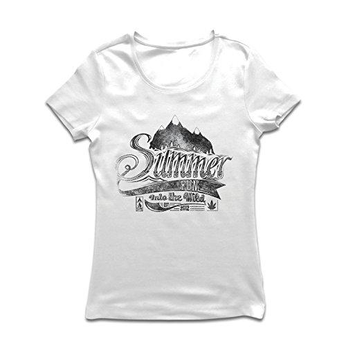 lepni.me Frauen T-Shirt Sommerspaß in freier Wildbahn, inspirierender Urlaubsurlaub (XX-Large Weiß Mehrfarben) -
