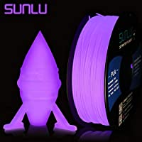 SUNLU Glow in The Dark PLA Filament 1.75 mm 3D Printer Filament, 3D Printing Filament, Dimensional Accuracy +/- 0.02 mm for 3D Printer and 3D Pen