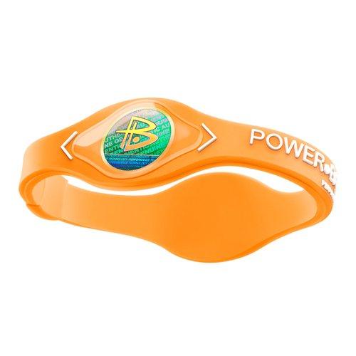Power Balance / GWSA09BK00WTLP Bracelet silicone Néon Orange Blanc